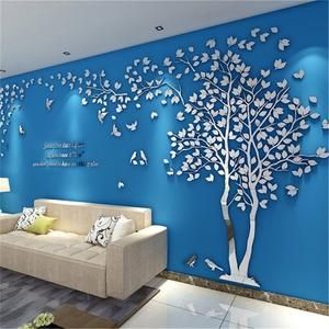 Decorative 3d Wall Sticker In 2020 Wall Paint Designs Simple Wall Paintings Wall Stickers Living Room