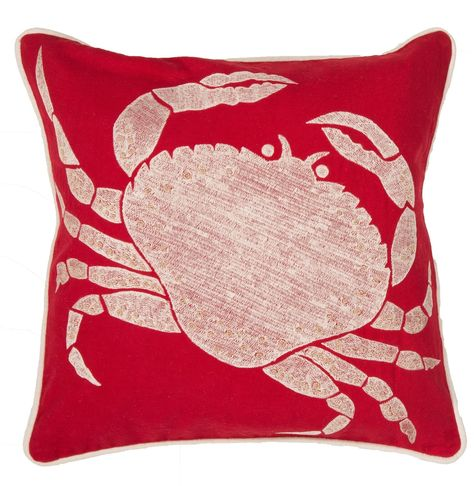 Red Crab Coastal Retreat Pillow