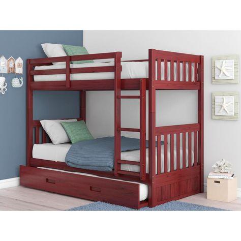 American Furniture Classics Merlot Twin Over Twin Solid Pine