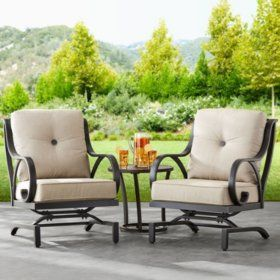 Member S Mark Harbor Hill Sunbrella Chairs 2 Pack Sam S Club Sunbrella Chairs Outdoor Rocking Chairs Patio Chairs