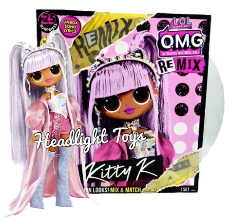 1 Authentic Lol Surprise Remix Kitty K 10 Omg Fashion Doll Music Record Queen Lol Dolls Kitty Baby Girl Toys