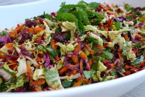 Herb Slaw with and Ginger-Cumin Dressing