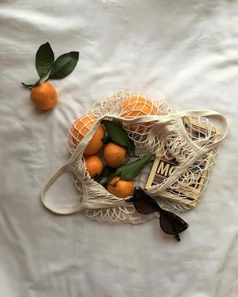 minimal amp; simple instagram flat lay photography inspiration | oranges in mesh bag