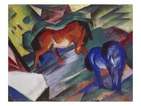 Expressionist Franz Marc/'s The Little Blue Horse Counted Cross Stitch Pattern