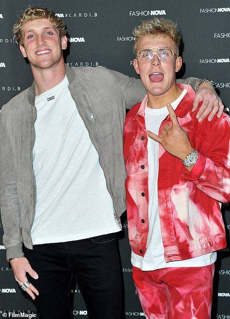 Jake Paul, 23, right, rose to fame alongside his brother Logan Paul, 25, left, on now defu...