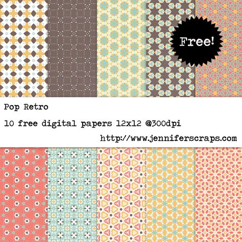 Pop Retro - Free Digital Paper Pack