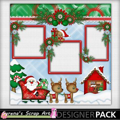 Christmas Santa Quick Page Christmas Layout, Christmas Scrapbook Layouts, Scrapbook Frames, Scrapbook Designs, Scrapbook Page Layouts, Scrapbooking Ideas, Scrapbook Cards, Funny Christmas Wallpaper, Xmas Crafts