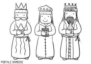 Three Wise Men Or Three Kings Coloring Pages Portale Bambini