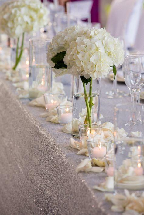 #redwoodsweddings #weddingwednesday #outdoorvenue #marquistent #weddingtent #beautiful #wedding #headtable #decor #weddingparty #weddingpartyseating #sequins #candles #weddingdecor #silver #reception #wedding {08.06.2016} Photo: Amazing Day Photography
