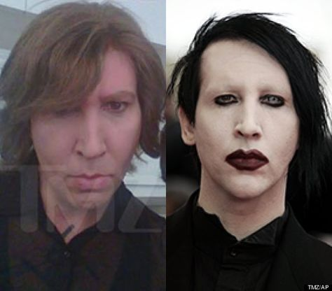 'What Marilyn Manson Looks Like Without Goth Makeup.