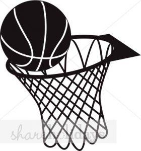 Black And White Basketball Basketball Drawings Basketball Hoop Basketball Clipart