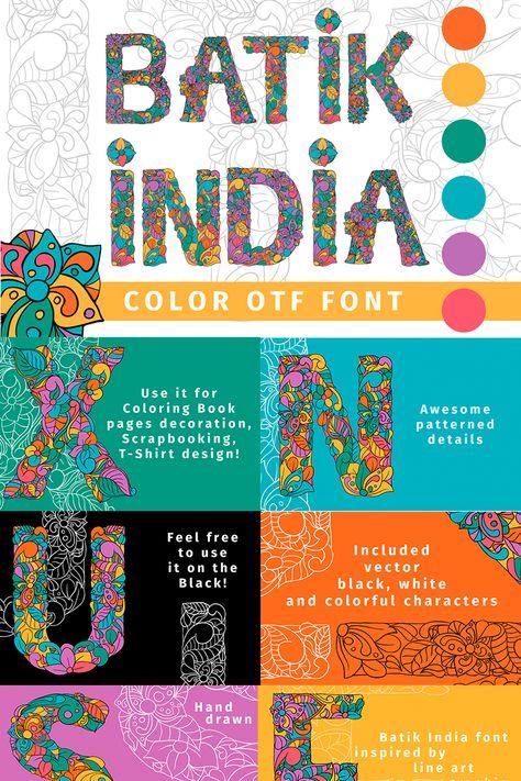 Batik India Color OTF Font