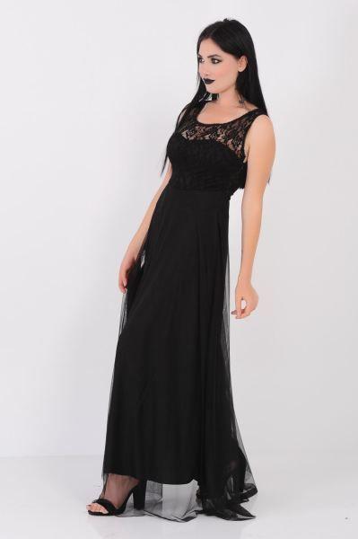 Abiye Yakasi Dantel Tul Siyah Abiye Butik Gotik Genc Kaliplari Kiz Armine Spor Elbise Salas Modelleri Bayangiyim Abiye Siyah Abiye Dantel Elbise