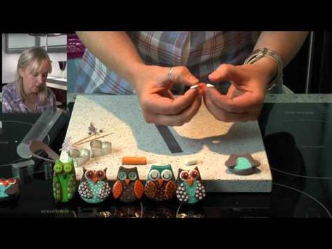 Polymer Clay Tutorial: How to make an Owl Fridge Magnet