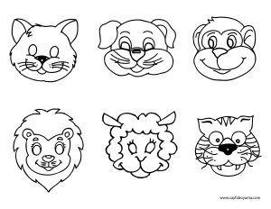 Hayvanlar Surat Boyama Sayfasi Hayvanlar