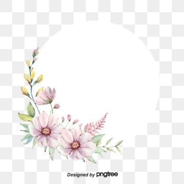 Circular Border Elements For Spring Flowers Vintage Hand Painted Romantic Png Transparent Clipart Image And Psd File For Free Download Cute Flower Wallpapers Flower Graphic Design Spring Flowers Background