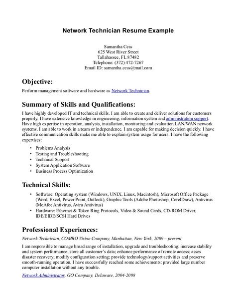 general labor resume example production sample resumes livecareer - network technician sample resume