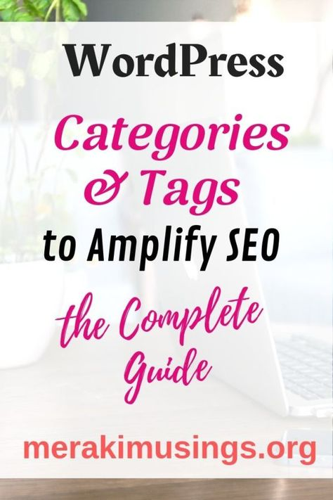 Categories and Tags in WordPress to amplify SEO - MerakiMusings