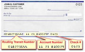 How To Find Routing Number On A Check Numbers Accounting Chart
