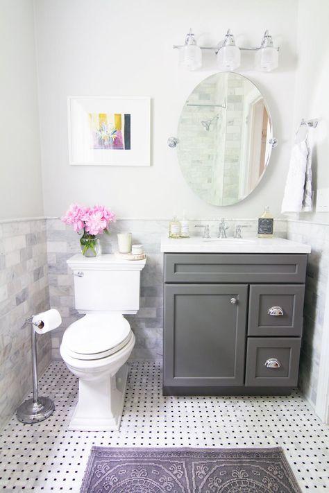 Reveal: A Dingy Bathroom Gets a Breath of Fresh Air » Curbly | DIY Design Community