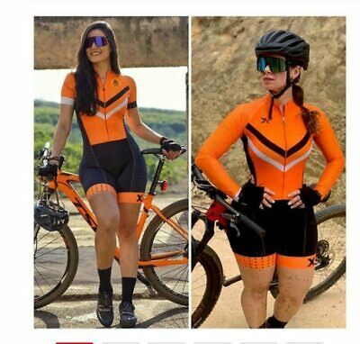 Women Team Cycling Long Sleeve Jersey bib pants Set Bicycle Outfits Bike Uniform