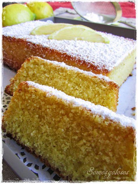 Receta. Bizcocho de maiz y limón. Sin gluten. Sin leche. Sin lactosa. / Recipe. Corn and lemon cake. Gluten free. Without milk. Lactose free. Blog Somosgolosos