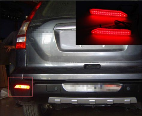 Rear Bumper Reflector Light Parking Warning Car For 2007 2009 Crv Styling Stop Brake Dc Camry 2015 Reflectors Toyota Camry