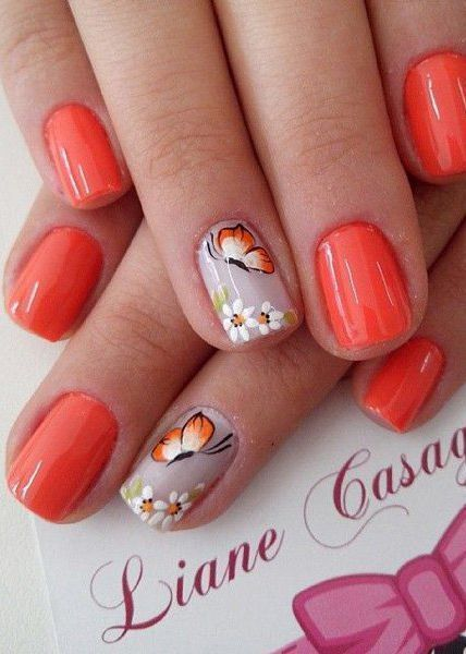 97 Pretty Butterfly Nail Art Designs For Summer In 2020