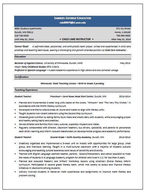 11 Child Care Sample Resume Riez Sample Resumes Riez Sample - resume child care