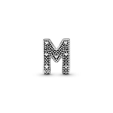 charm pandora originale lettera m