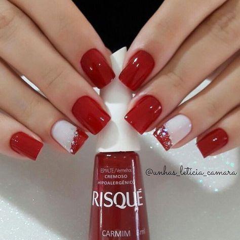 Best Christmas Nail Art Trending This Season Amazing red and white Christmas nails.Amazing red and white Christmas nails.