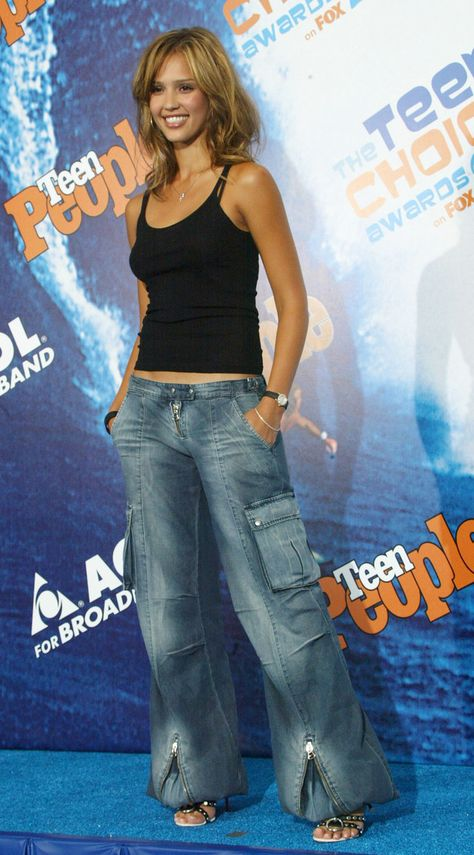 Jeans that swallowed your entire legs were ideal.