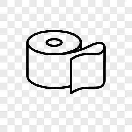 Toilet Paper Vector Icon Isolated On Transparent Background Paper Logo Transparent Background Vector Icons