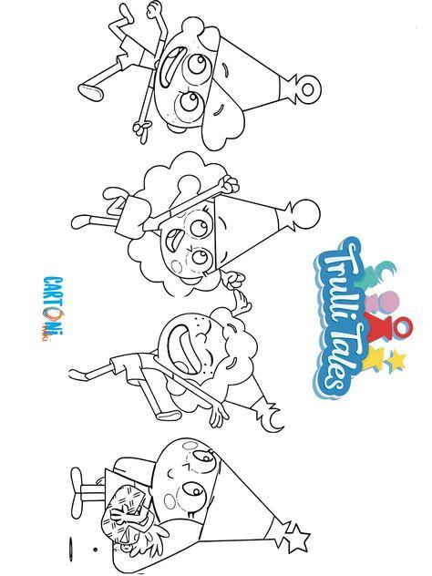 Cartoni Animati Disegni Da Colorare Con Tuttii I Personaggi Del