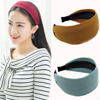 Women/'s Tie Headband Hairband Twist Braided Wide Head Band Hair Hoop Accessories