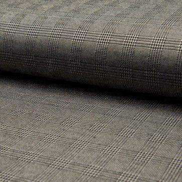 Tissu Jacquard Prince De Galles Carreaux Noir Et Blanc Sur Fond Noir Et Taupe Par 10 Cm Carreaux Noir Et Blanc Tissu Jacquard Fond Noir