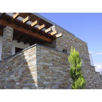 plaquette de parement stonepanel, pierre naturelle, multicolore