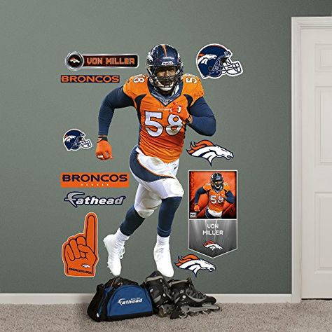 c6be429e NFL Denver Broncos Von Miller Big Wall Decal