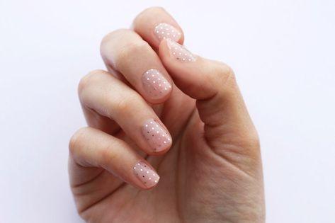 Silver Swiss Dot Nail Wraps
