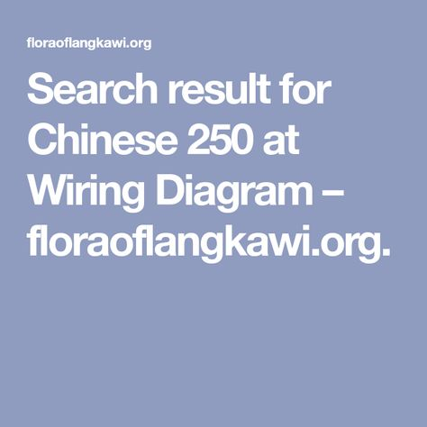 Search Result For Chinese 250 At Wiring Diagram Floraoflangkawi Org With Images Wire Diagram Motorcycle Wiring