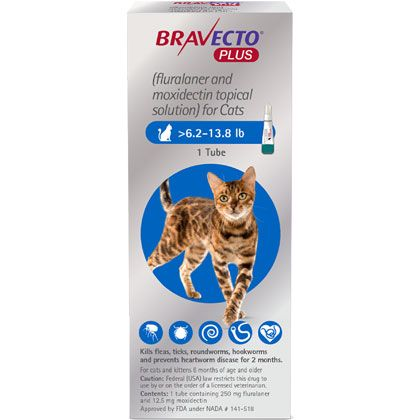 Bravecto Plus For Cats Free Shipping 1800petmeds In 2020 Online Pet Supplies Cat Skin Heartworm Prevention