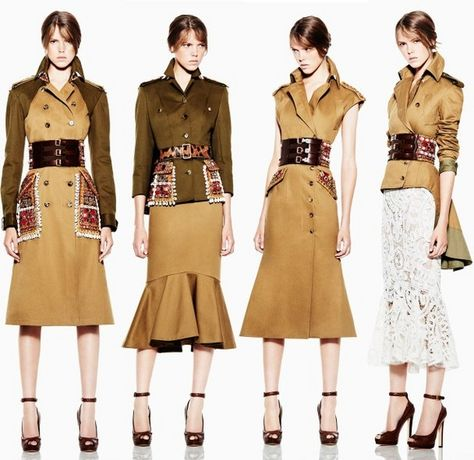 Love the military inspired dresses