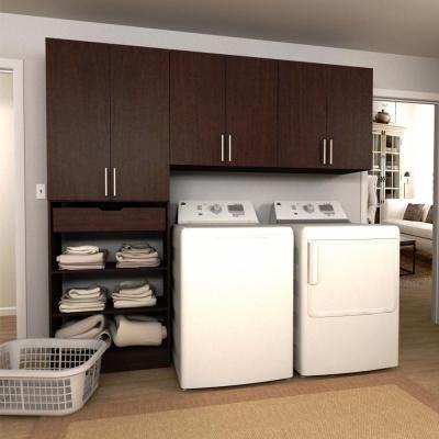 Modifi Horizon 105 In W White Laundry Cabinet Kit Enl105 Hpw