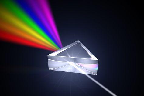 Shower Curtain Decor Light Spectrum Optics Prism Light Beam Refraction Curtains