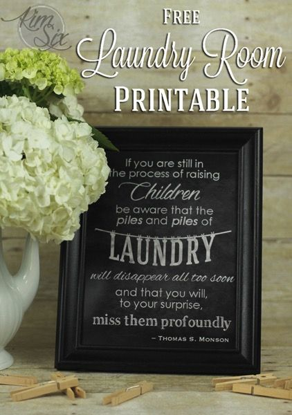 Free Laundry Room Kids Printable. Perfect for a laundry room filled with kids'…