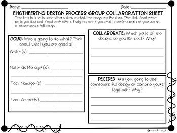 Engineering Design Process Planning Worksheet For Groups Is Great For Any Stem Or Steam Challenge Engineering Design Process Engineering Design Design Process
