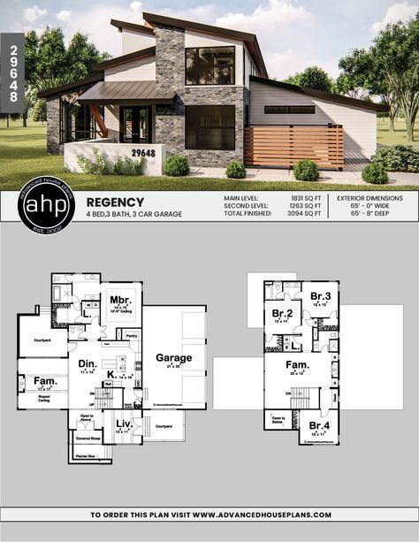 1 5 Story Modern Mountain House Plan Regency Industrial House Plans Mountain House Plans Modern House Plan