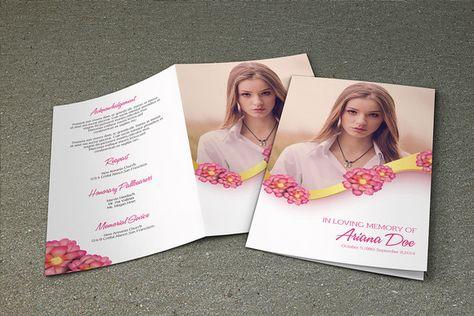 Purple Flower Funeral Program Template Printable by TemplateStock - funeral brochure template