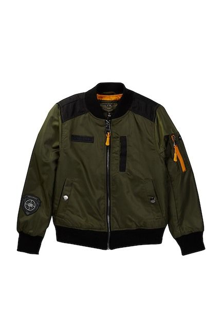 001d4fd2f Urban Republic Poly Twill Bomber Jacket with Aviator Patches (Big ...
