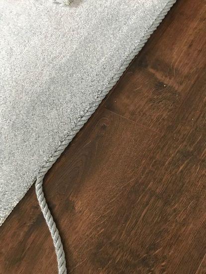 Diy Custom Area Carpets On A Budget With Images Area Carpet Diy Carpet Diy Home Decor On A Budget